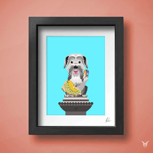 Greyfriars Bobby Statue - Edinburgh Dog Statue Illustration