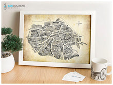 Load image into Gallery viewer, Edinburgh map wall art
