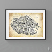 Load image into Gallery viewer, Edinburgh map art