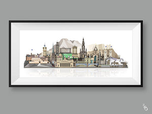 Edinburgh skyline print