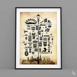 Edinburgh art print