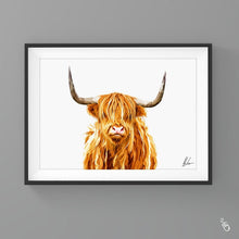 Load image into Gallery viewer, Highland cow painting colourful