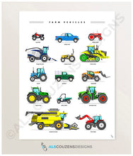 Load image into Gallery viewer, Tractor poster
