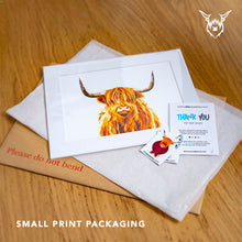 Load image into Gallery viewer, Highland cow art print