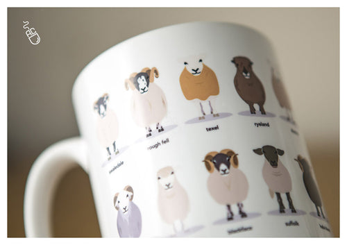 Sheep breeds mug