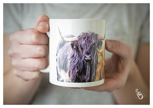Highland cow coffee cup