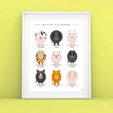 Load image into Gallery viewer, Pig art print
