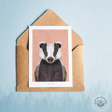 Load image into Gallery viewer, badger card note