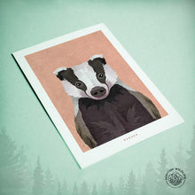 Load image into Gallery viewer, badger birthday card