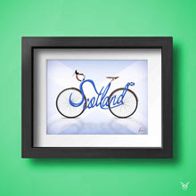 Load image into Gallery viewer, Scotland bike wall art print