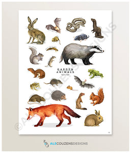 Animal art print UK
