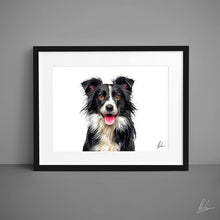Load image into Gallery viewer, Border Collie Dog Print