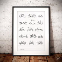 Load image into Gallery viewer, Cycling poster vintage bikes