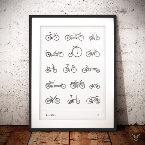 Cycling poster vintage bikes