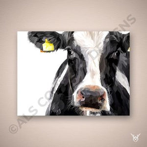 Holstein cow art print