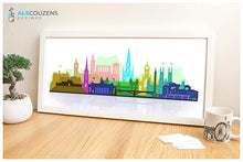 Load image into Gallery viewer, Edinburgh Skyline Print - Colourful