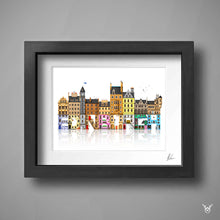 Load image into Gallery viewer, Edinburgh colourful street art print