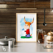 Load image into Gallery viewer, Highland Cow illustration