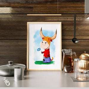 Highland Cow illustration