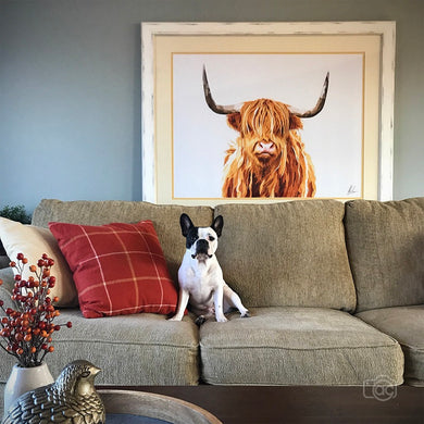 Highland cow large wall art