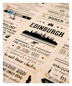 Edinburgh modern art print