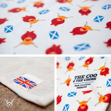 Load image into Gallery viewer, Highland Cow Tea Towel - The Coo & The Cross