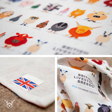 Load image into Gallery viewer, Farm Animal Tea Towel - British Livestock Series