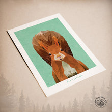 Load image into Gallery viewer, red squirrel birthday card
