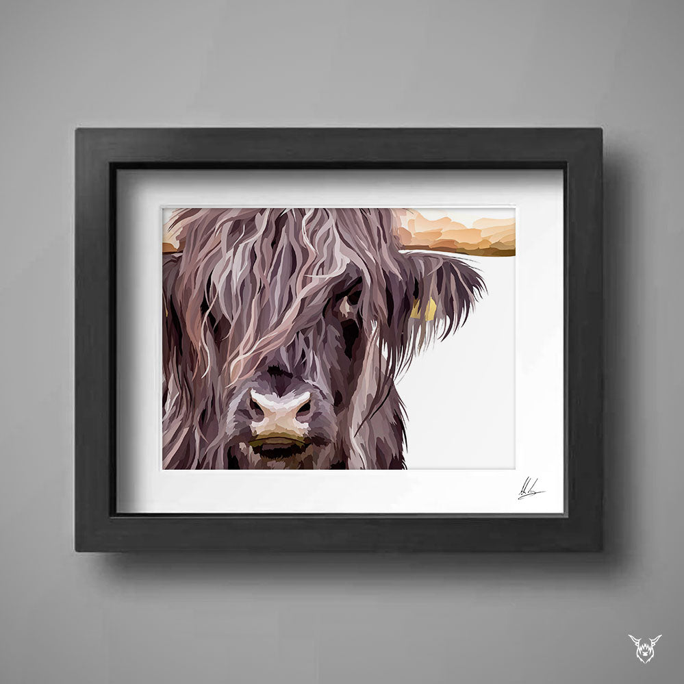 Scottish hairy cow painting