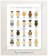 Load image into Gallery viewer, sheep art print