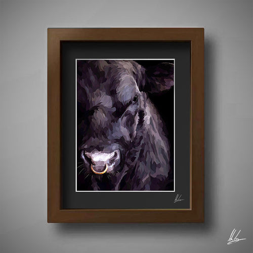 Cool Black Bull Painting