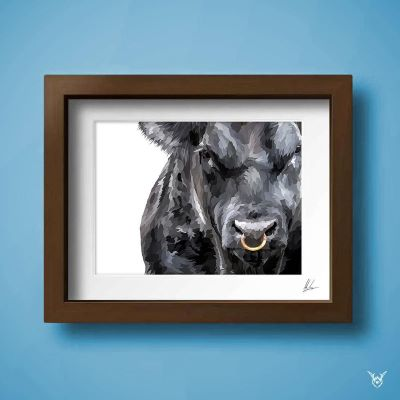 Aberdeen Angus Painting