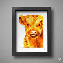 Load image into Gallery viewer, baby highland cow picture