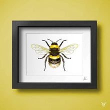 Load image into Gallery viewer, Honey Bee Art Print - British Bee Wall Art