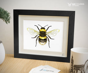 British Bumble Bee Art Print