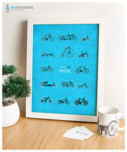Load image into Gallery viewer, Love Cycling - Blue