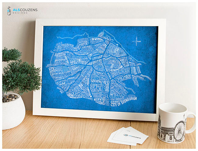 Edinburgh Word Map - Print