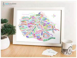 Edinburgh Word Map - Travel Art - Colourful