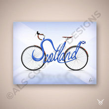 Load image into Gallery viewer, Cycling scotland art print