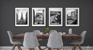 Black & white wall art