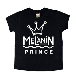 Melanin Prince infant toddler youth black pride tees