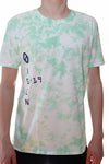 TIE DYE T-SHIRT / GREEN / WHITE