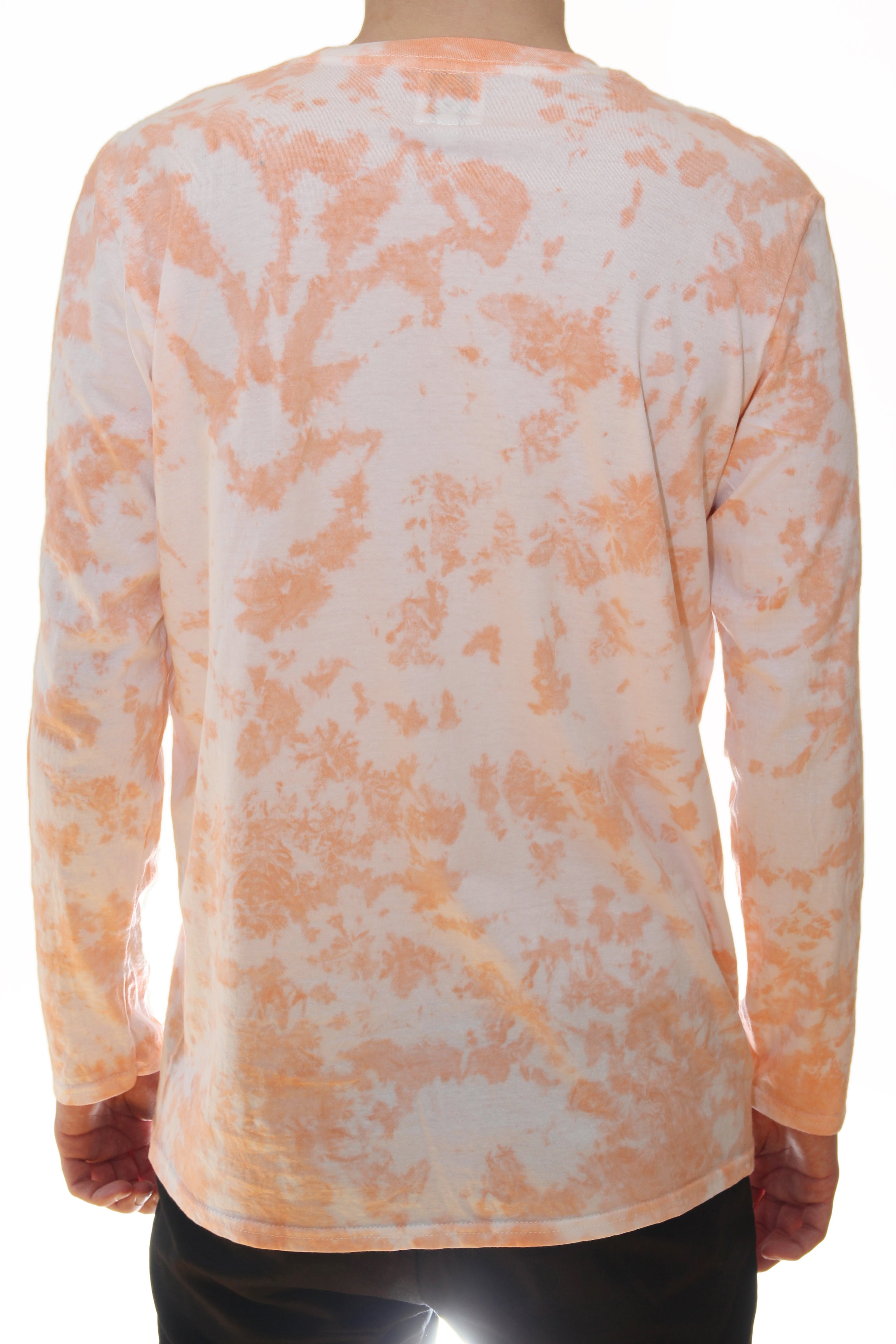 LONG SLEEVE T-SHIRT / CORAL / WHITE