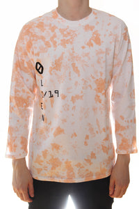 3/4 SLEEVE T-SHIRT / CORAL / WHITE