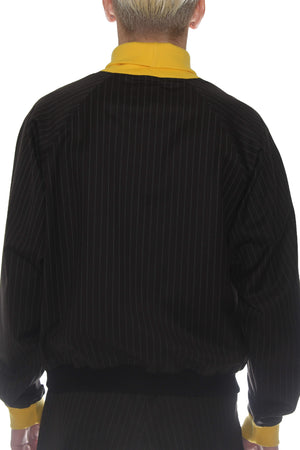 STRIPED TURTLENECK / BLACK / YELLOW/ LIGHT GREY