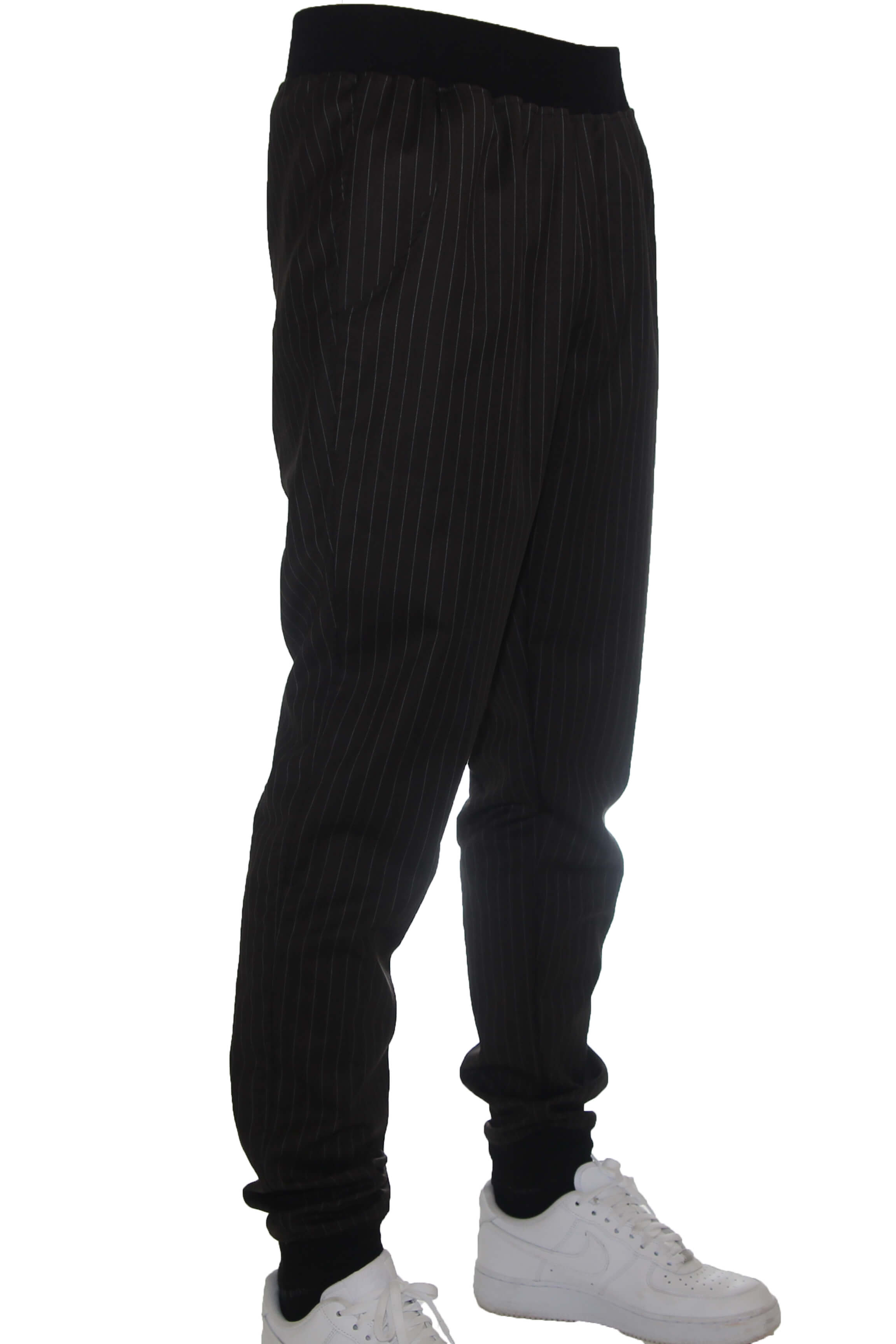 STRIPED PANTS / BLACK / LIGHT GREY