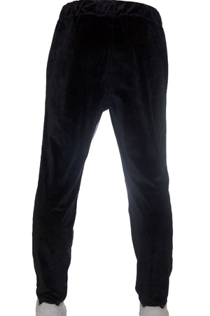 """SPLIT FLEECE PANTS"" / BLACK / WHITE"