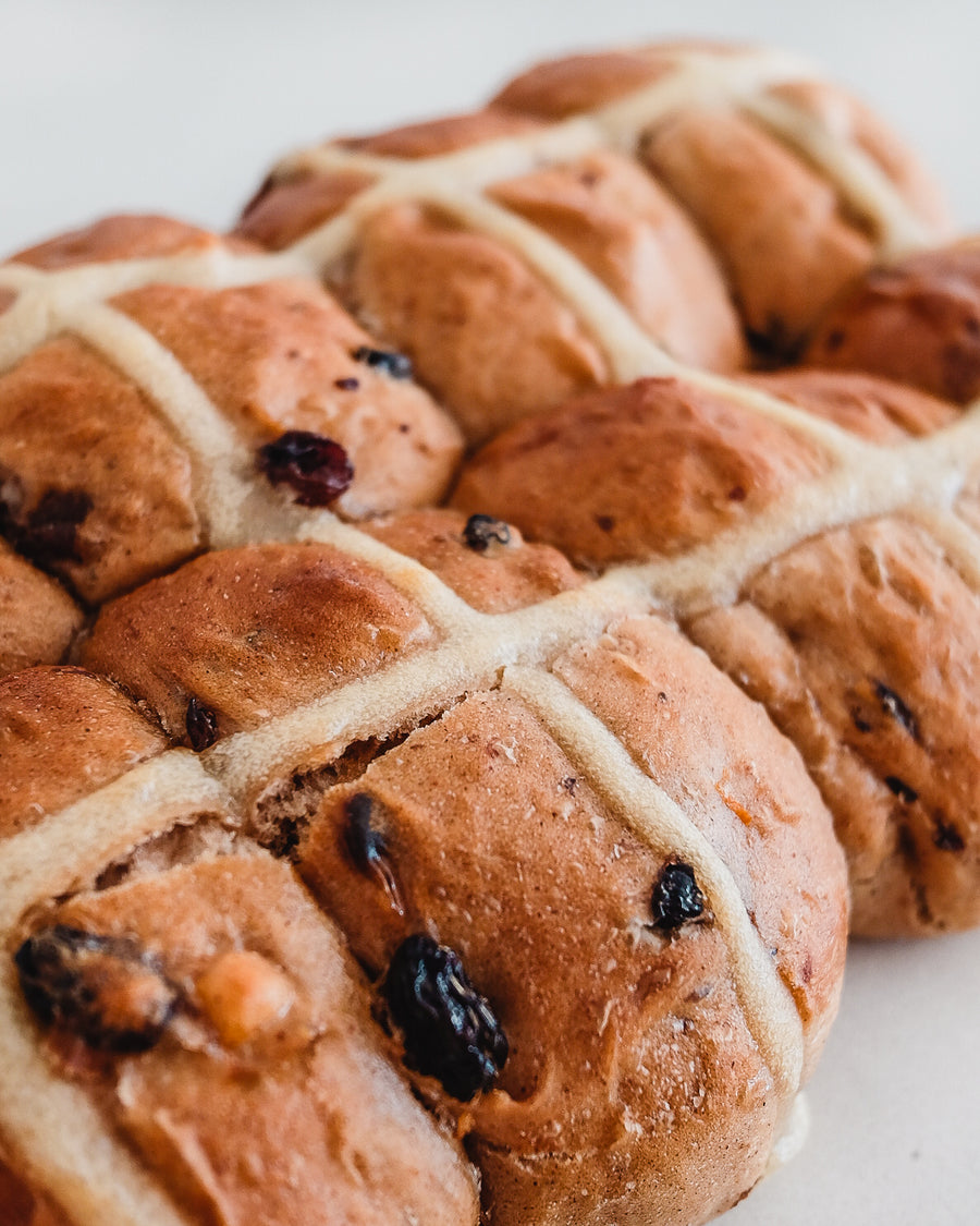 Hand-made Artisan Hot Cross Buns
