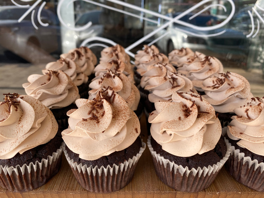 Mocha Whipped Cream Cupcakes