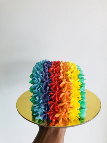 Rainbow Shape Cake